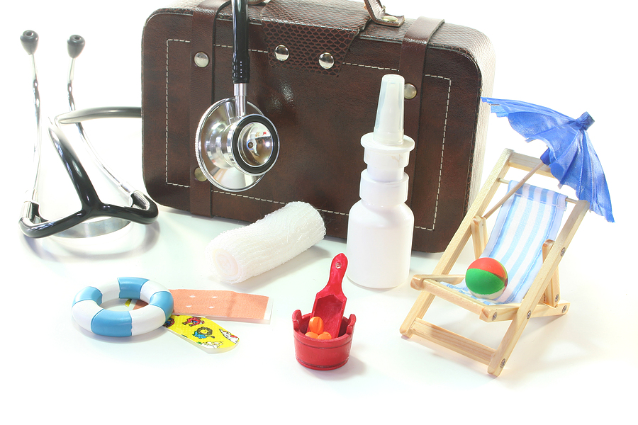 Drugs that are placed inside the suitcase when going on vacation